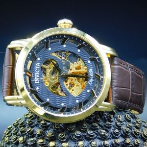 FIRM PRICE-Invicta Automatic Objet leather Watch
